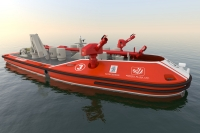 Unmanned firefighting vessel under development