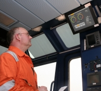 The data is presented on board via touchscreen monitors installed on the bridge