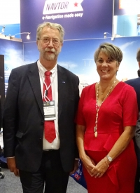 Tor Svanes, NAVTOR CEO, and Alexandra Anagnostis-Irons, president of Total Marine Solutions