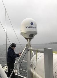 The Simrad Echo KVH Watch antenna