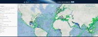 exactEarth's Horizon interactive map showing global maritime vessel information. Image courtesy of exactEarth
