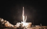 The Falcon 9 carrying the PAZ satellite and demo Starlink units launched from California on February 22