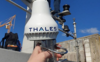 Thales VesseLINK 200 satcom antenna. Image courtesy of Thales