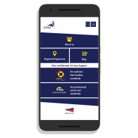 ISWAN for Seafarers app home screen. Image courtesy of ISWAN.