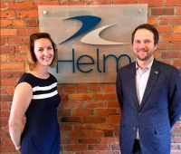(l-r) Rachel Aylard and Steve Robertson, Helm Operations