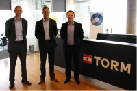 CEO Michael Paarup, Logimatic, Sales Manager Hans Christian Jensen, Logimatic and Vice President of Fleet & Newbuilding Support Allan Rasmussen, TORM