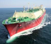 One of the Q-Flex LNG vessels, Al Kharaitiyat. Image courtesy of Nakilat