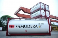 Samudera's ISO Tank Containers. Image courtesy of Samudera Shipping Line.