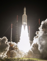 Intelsat 29e spacecraft launching on January 27, 2016. Image courtesy of Intelsat