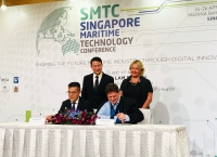 The agreement was signed by Andrew Tan, MPA (left), and Marco Ryan, Wärtsilä